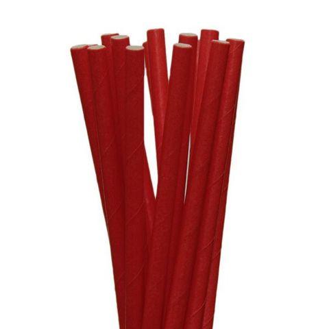 Canudo-Papel-Liso-Vermelho-20cm-Com-20un---Silver-Plastic---CP04007-